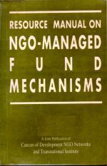 Resource manual on NGO-managed fund mechanisms