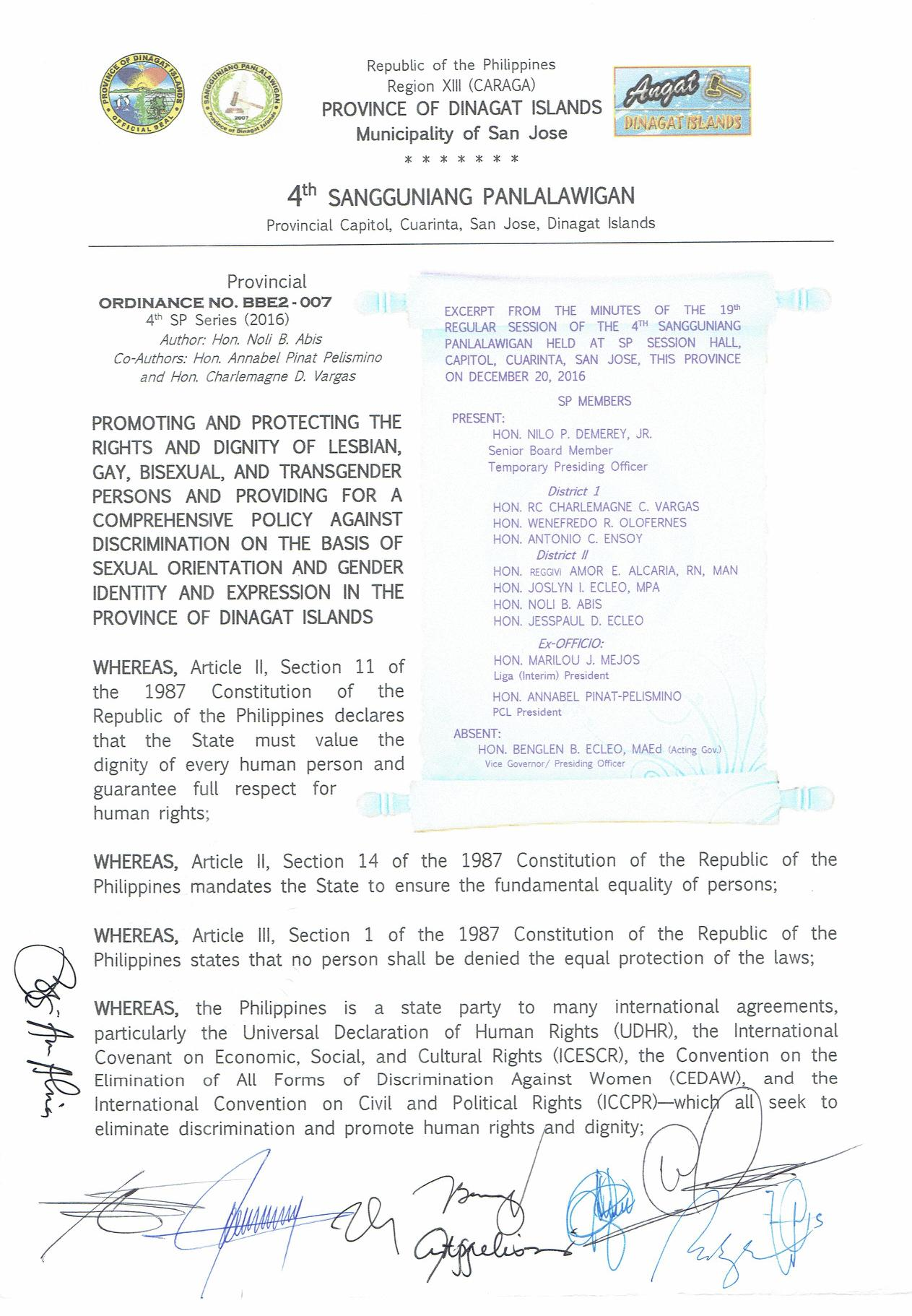 Dinagat Islands Anti-Discrimination Ordinance