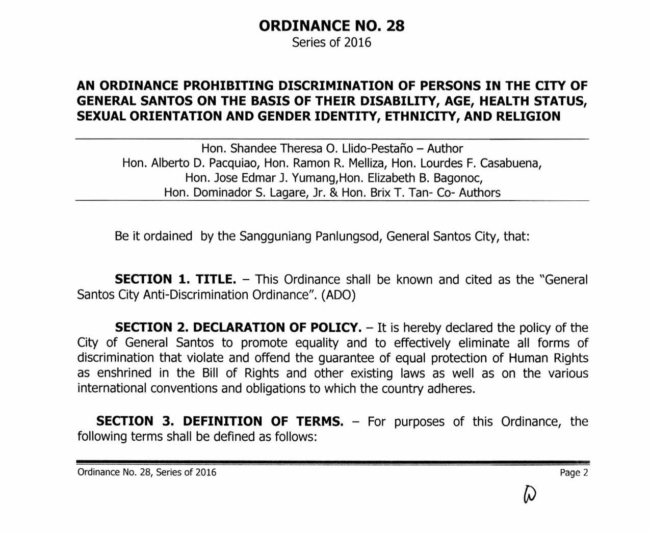 General Santos City Anti Discrimination Ordinance