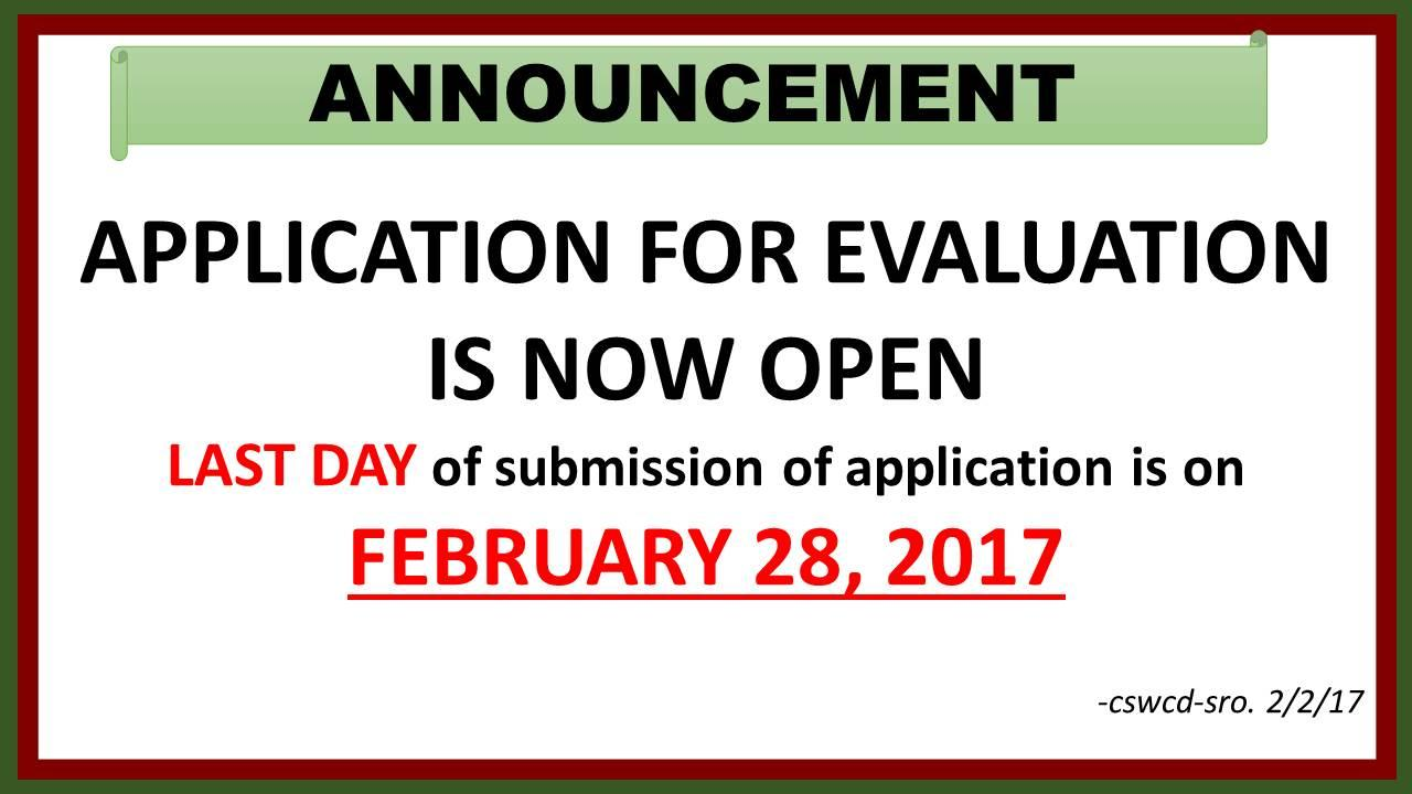 Application for Evaluation